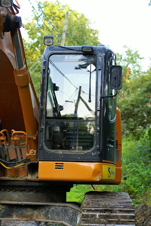 road construction tractor excavator shovel grader               Stock Photo - 1512027