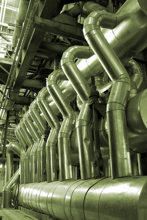 Pipes inside energy plant          Stock Photo - 1600579