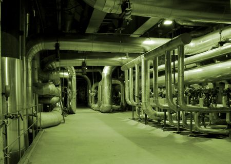 Equipment, cables and piping as found inside of a modern industrial power plant Stock Photo - 2067998
