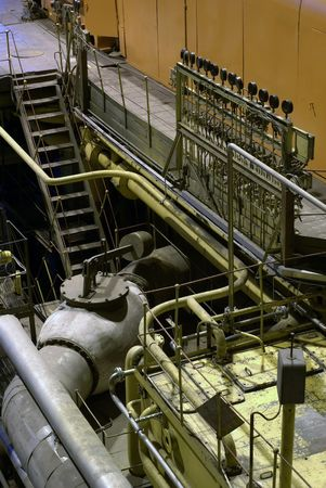 steam turbine at power house           photo