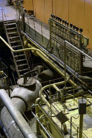 turbina de vapor: turbina de vapor en la casa de la energ�a