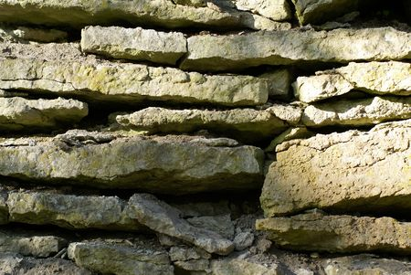 inorganic: Detail of a lime stone wall             Stock Photo