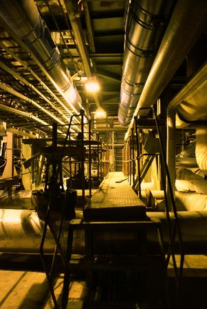 Pipes, machinery, tubes and turbine at a power plant Stock Photo - 3121262