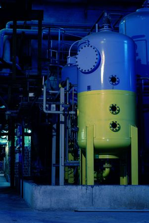 Pipes, tubes, machinery and steam turbine at a power plant Stock Photo - 3905908