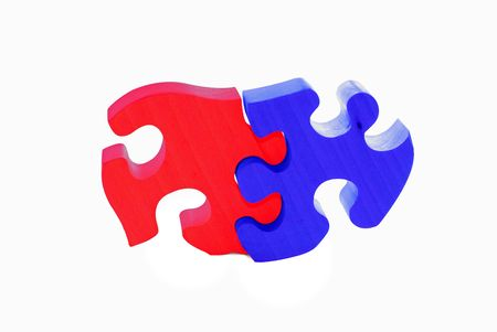 painted wooden puzzle           photo