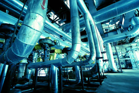 different size and shaped pipes at a power plant Stock Photo - 5250737