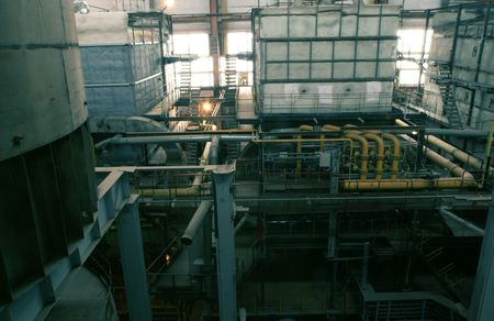 water boilers at power plant          photo