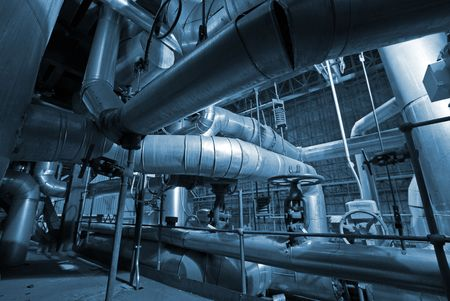 industrial pipes and machines               photo