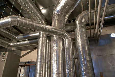 Ventilation: Ventilation pipes of an air condition