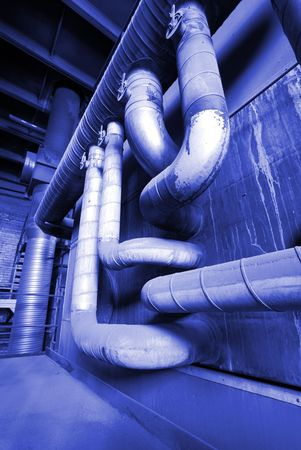 different size and shaped pipes at a power plant Stock Photo - 6709042