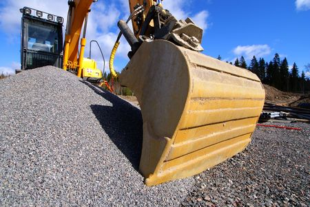 excavator against blue sky Stock Photo - 6845451