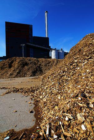 anaerobic: bio power plant with storage of wooden fuel