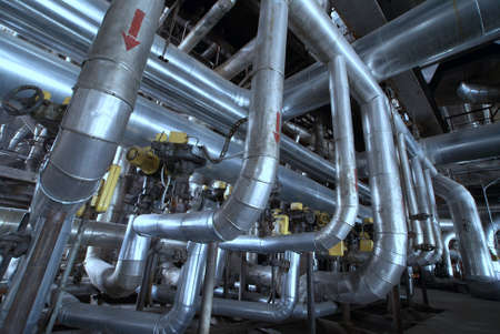 shinereflection: Industrial zone, Steel pipelines, valves and ladders