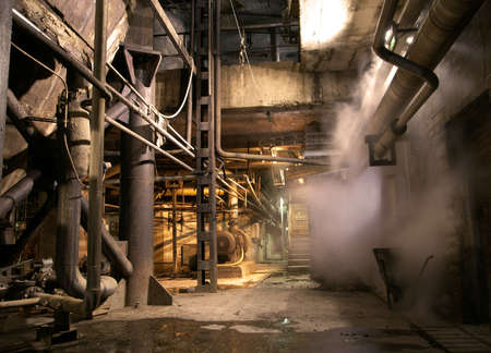 old creepy dark decaying dirty factory Stock Photo - 12691481