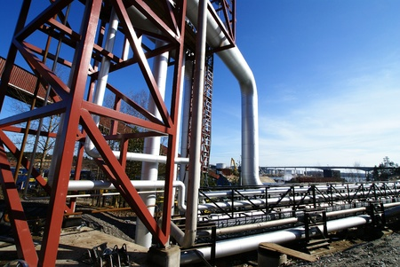 different size and shaped pipes and valves at a power plant Stock Photo - 14571858