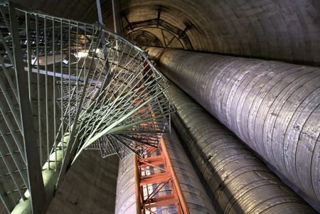inside of industrial smoke stack Stock Photo - 14675704