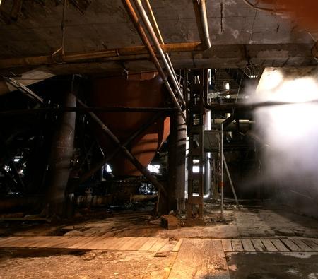 Old creepy, dark, decaying, destructive, dirty factory Stock Photo - 15175866