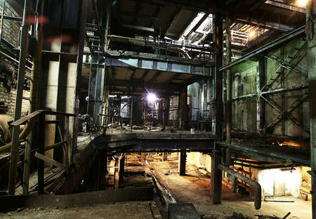 abandoned warehouse: Old abandoned factory