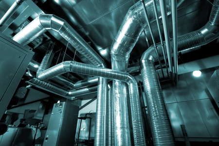 ducts: Ventilation pipes of an air condition Stock Photo