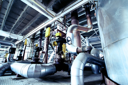 refinery engineer: Industrial zone, Steel pipelines and cables