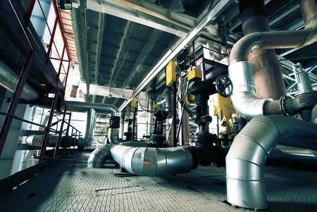 factory machine: Industrial zone, Steel pipelines and equipment