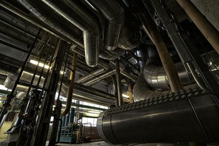 refinery engineer: Industrial zone, Steel pipelines and equipment