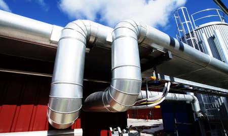 refinery engineer: Industrial zone, Steel pipelines and pumps