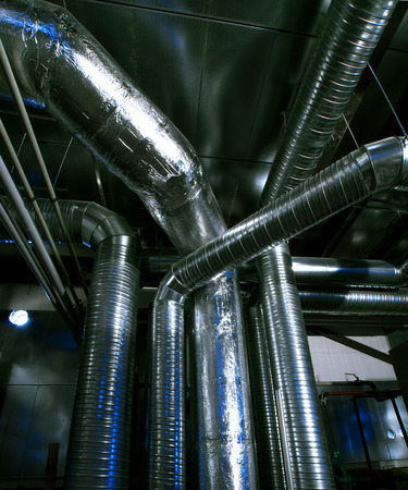 mechanical ventilation: Industrial zone, Steel pipelines and equipment