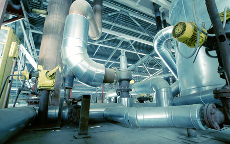 insulation: Equipment, cables and piping as found inside of a modern industrial power plant