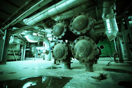 destructive: Old creepy, dark, decaying, destructive, dirty factory Stock Photo