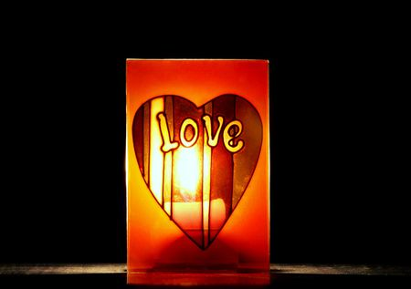 truelove: Photo of love-favour candle Stock Photo