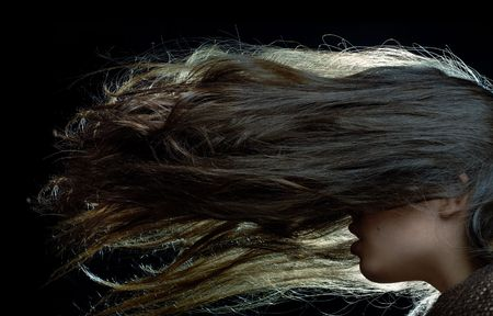 Studio shot of the woman with long hairs Stock Photo - 1335323