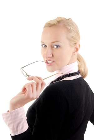 Photo of the successful business woman turning back Stock Photo - 2712385