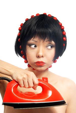 mistress: Scherzo, la foto del giovane amante di ferro con eletric