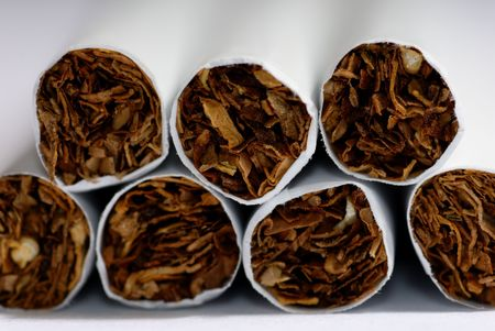 fag: Extremely close-up photo of the cigarettes