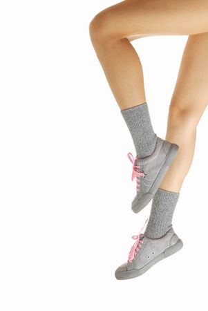 rapidity: Close up photo of the legs doing heel-and-toe walk
