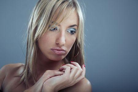 Studio photo of the sensual blond model Stock Photo - 4207197