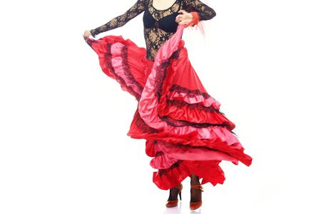expressional: Body part of the woman dancing flamenco