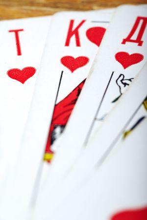 vehemence: Set of the heart cards. Stock Photo
