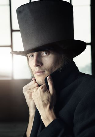 privy: Man in the black coat and top hat