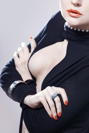 armlet: Stylish lady in studio with luxurious jewelry