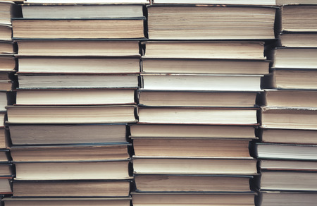numerous: Rows and columns of numerous books Stock Photo