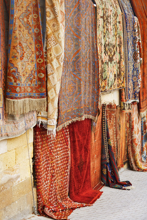 antiquary: Carpets at open-air flee market