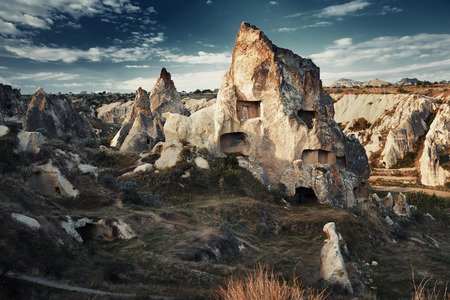 touchstone: Ancient stone houses of Cappadocia, Turkey