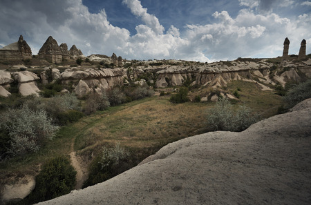 touchstone: Rock formations of Cappadocia. Turkey. Horizontal photo Stock Photo