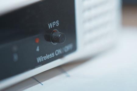 modulator: Network modem. Close-up horizontal photo