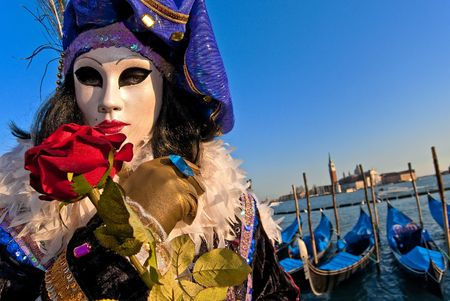 italy culture: Mask in Venice, Italy  Stock Photo