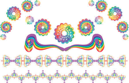 rainbow design elements Stock Vector - 951515