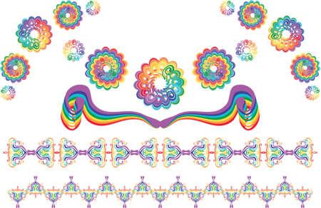 rainbow design elements Illustration