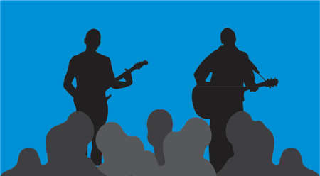 musicians-silhouettes Stock Vector - 951516
